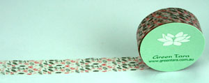 Washi Tape 15mm x 10m roll Leaves