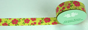 Washi Tape 15mm x 10m roll Yellow Floral