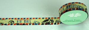 Washi Tape 15mm x 10m roll Air Mail