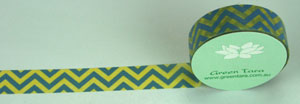 Washi Tape 15mm x 10m roll Zig Zag Blue/Yellow