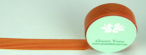 Washi Tape 15mm x 10m roll Horizontal Stripe Orange