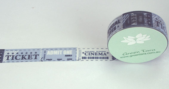 Washi Tape 15mm x 10m roll Cinema Ticket