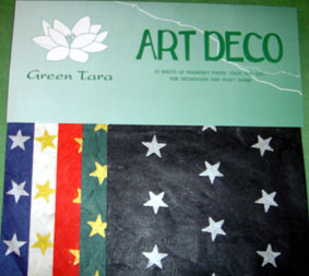 20 A5 Sheets Art Deco Papers Xmas Stars