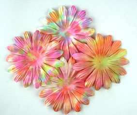 **NEW**10cm petals Batik Pink. Pack of 25.