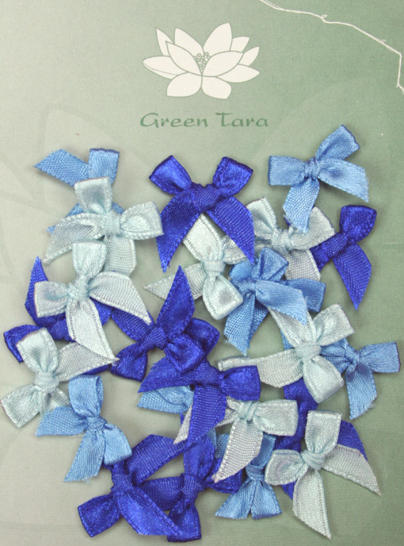 Pack of assorted 2cm Bows Blues