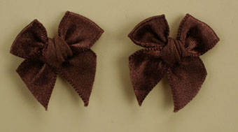 Pack of 50 3cm Bows. Dark Brown.