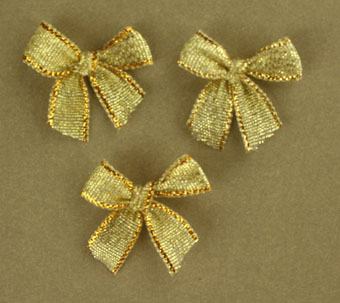 Pack of 100 2cm Bows. Metallic Gold.