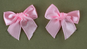 Pack of 50 3cm Bows. Pink.
