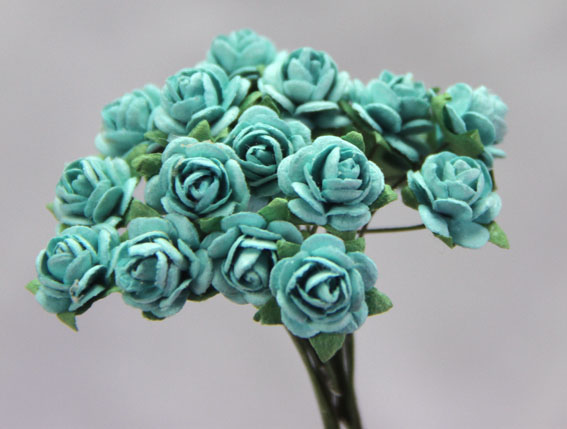100 Roses 1cm Turquoise