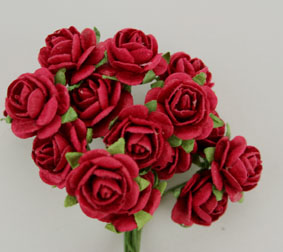 100 Roses 1.5cm Red