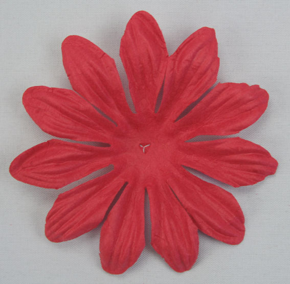 7cm Petals, Fire Engine Red