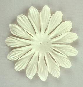 10cm petals. White Pack of 25.