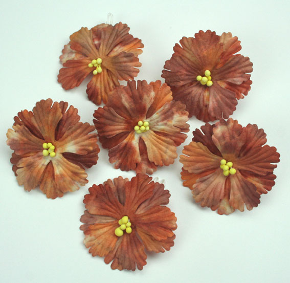 Pack of 100 Hibiscus Flowers, Batik Henna