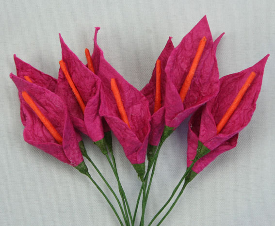 **NEW**  100 3cm Calla Lillies Cerise with Orange Stamen