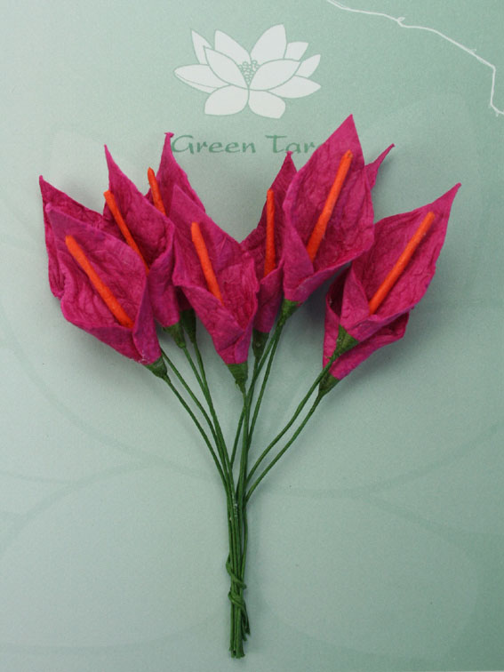 **NEW**  10 3cm Calla Lillies Cerise with Orange Stamen