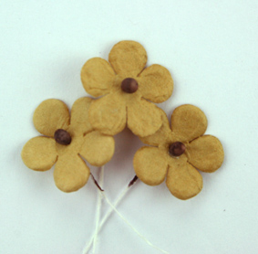 100 Flowers 1.5cm Light Brown