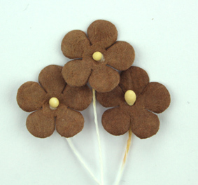 100 Flowers 1.5cm Dark Brown