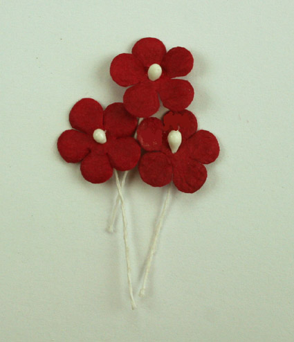 100 Flowers 1.5cm Red
