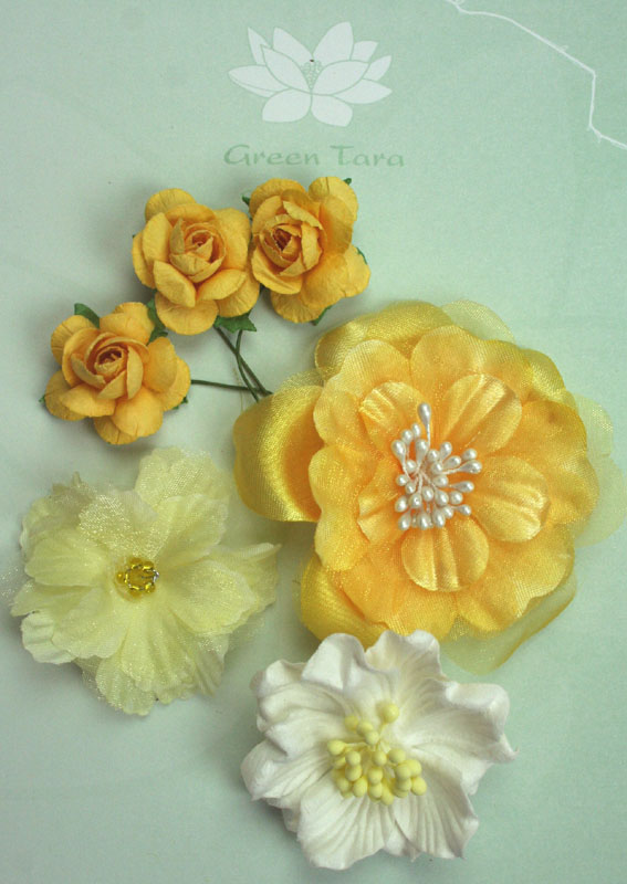 Fabric Flowers Sunshine Pack