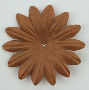 5cm Petals, Dark Brown