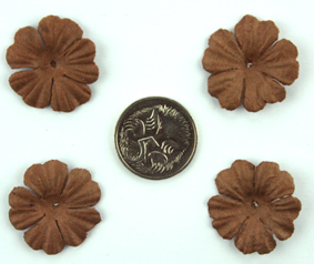 100 Petals 2.5cm Dark Brown