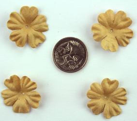 100 Petals 2.5cm Light Brown