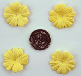 100 Petals 2.5cm Soft Yellow
