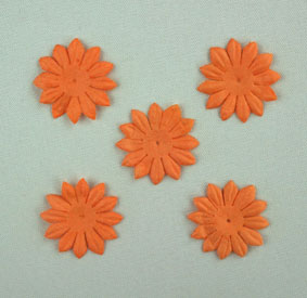 "100  ""Gerbera"" Petals, 2cm Pale Orange"