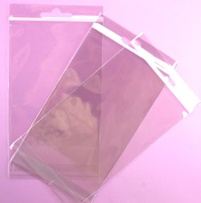 100 Resealable Cellophane Bags 105x140mm