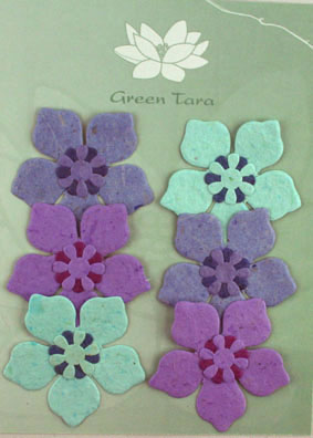 "6 Flowers ""Periwinkle"" Blue/Purple"