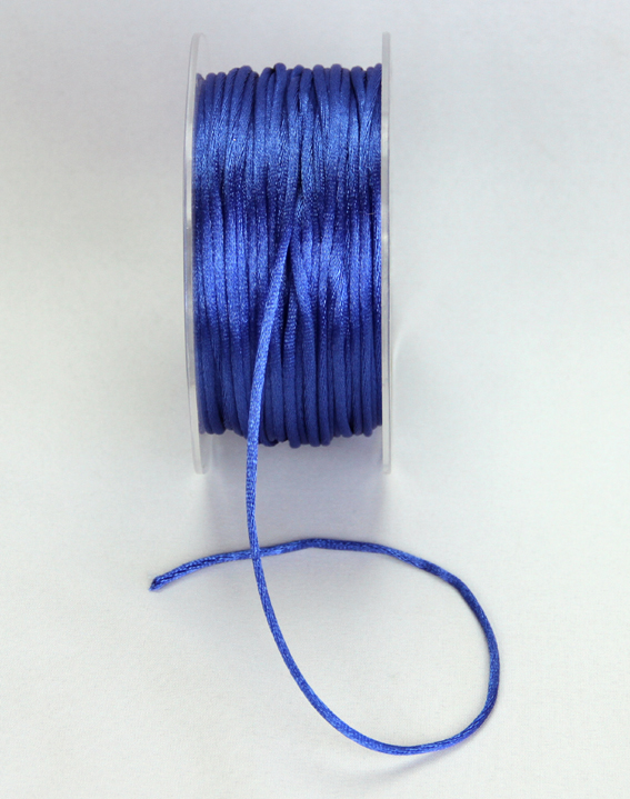 2mm Satin Rat Tail Cord 50m roll Royal Blue