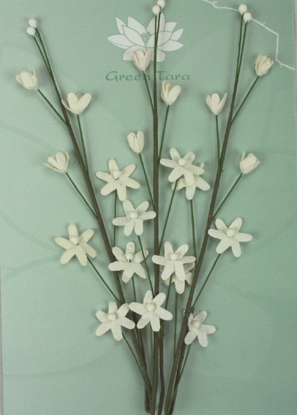 3 Flower Sprays White