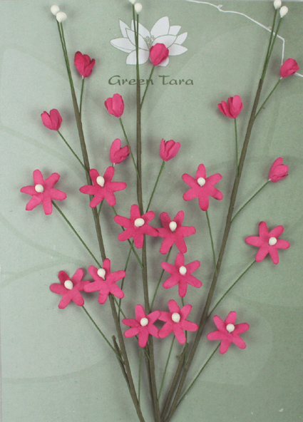 3 Flower Sprays Hot Pink