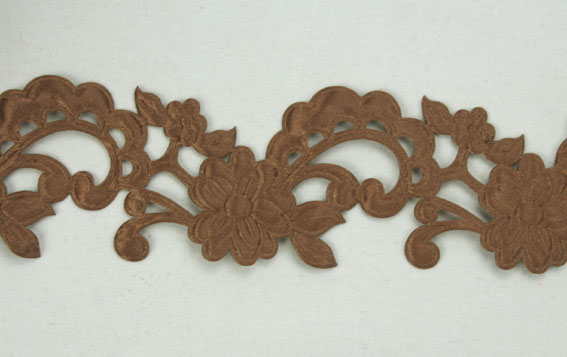 Satin Flower Garland, Coffee