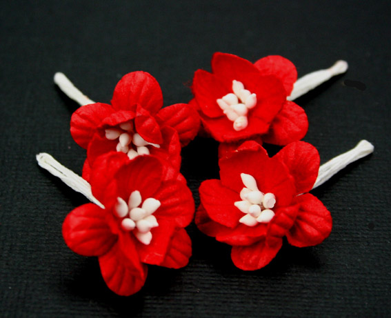 100 Cherry Blossoms 3cm Red