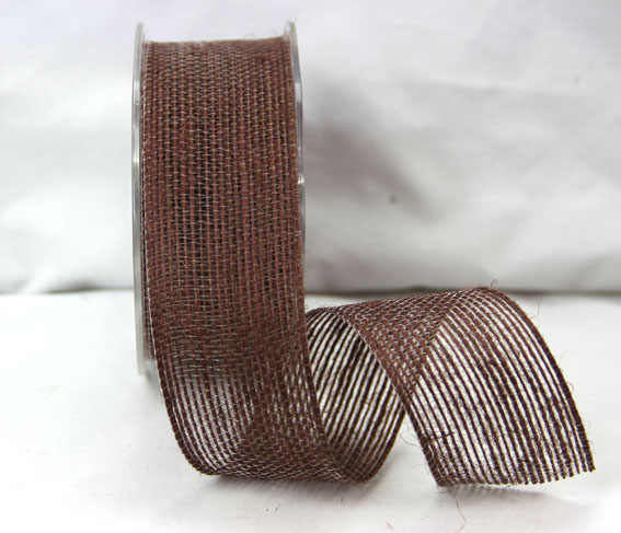 38mm Natural Jute Ribbon 10m Dark Brown