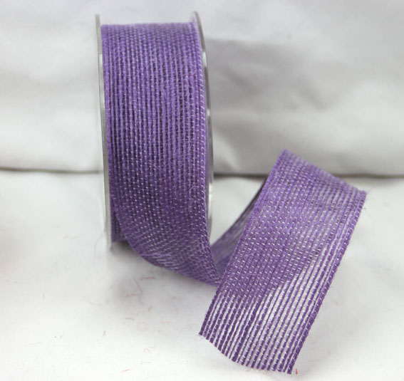 38mm Natural Jute Ribbon 10m Violet