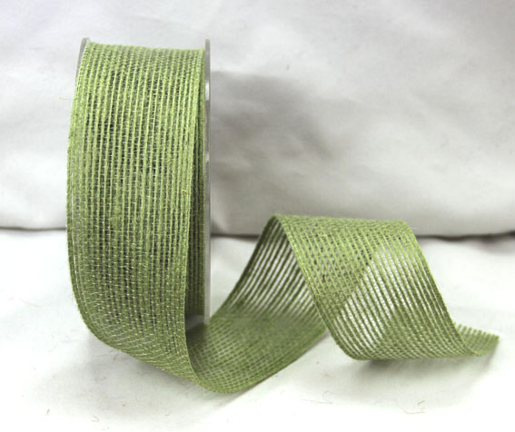 38mm Natural Jute Ribbon 10m Sage