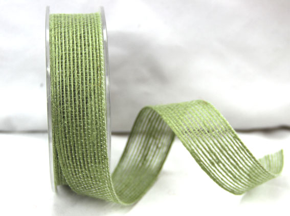 25mm Natural Jute Ribbon 10m Sage