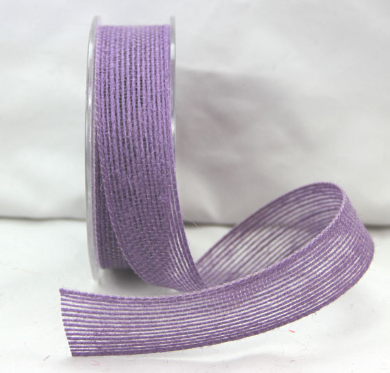 25mm Natural Jute Ribbon 10m Violet
