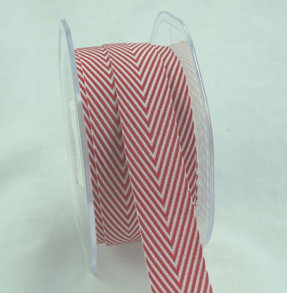 20mm Herringbone Red 20m roll