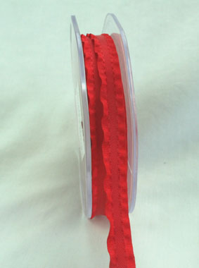 10mm Satin Frill Red 10m roll