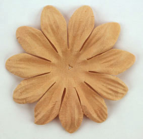6cm Petals, Light Brown