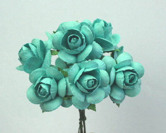 100 Roses 3cm Turquoise
