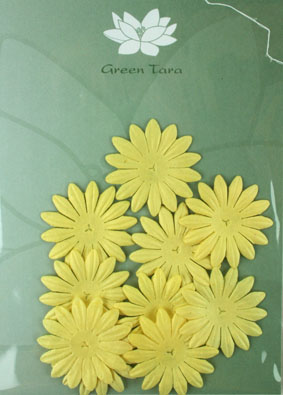 4cm Petals, Yellow. Pack of 10