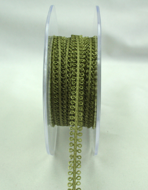 7mm Loop Trim  20m roll  Olive