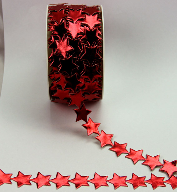 20mm Self Adhesive Star Trim 10m, Red