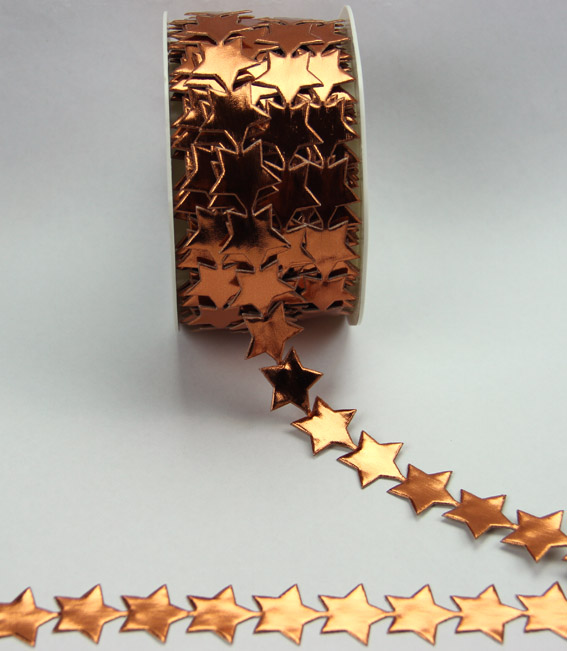 20mm Self Adhesive Star Trim 10m, Copper