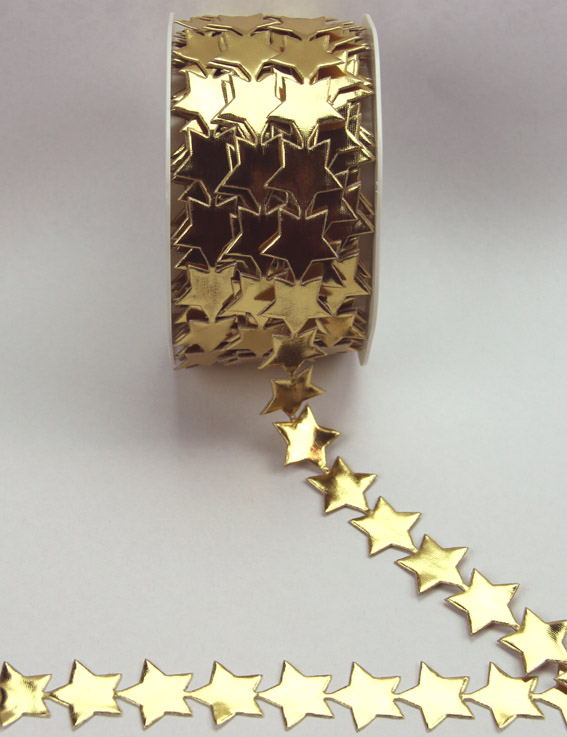20mm Self Adhesive Star Trim 10m, Gold