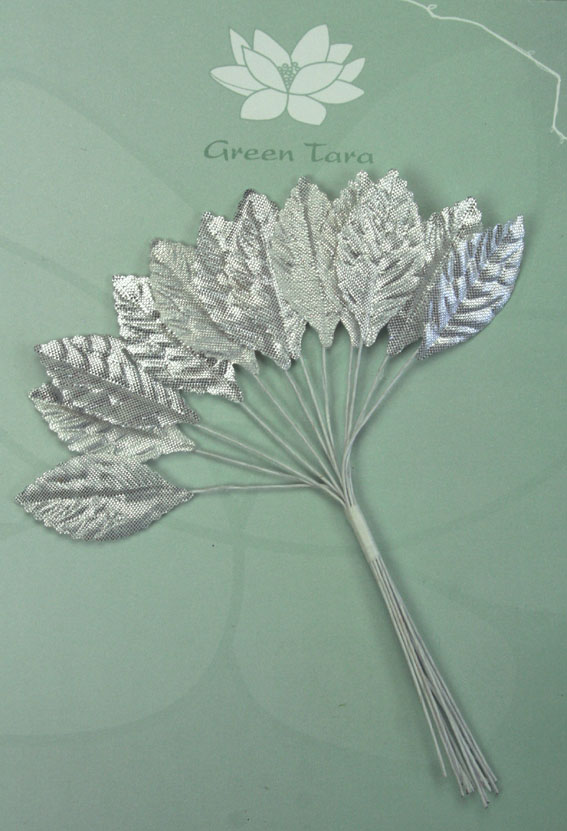 **NEW** Silver Leaves 3cm